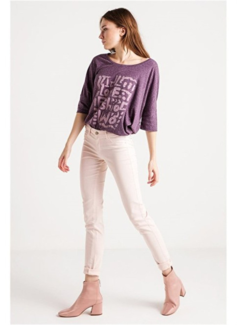 Love'n Fashion Paris Pantolon Pembe